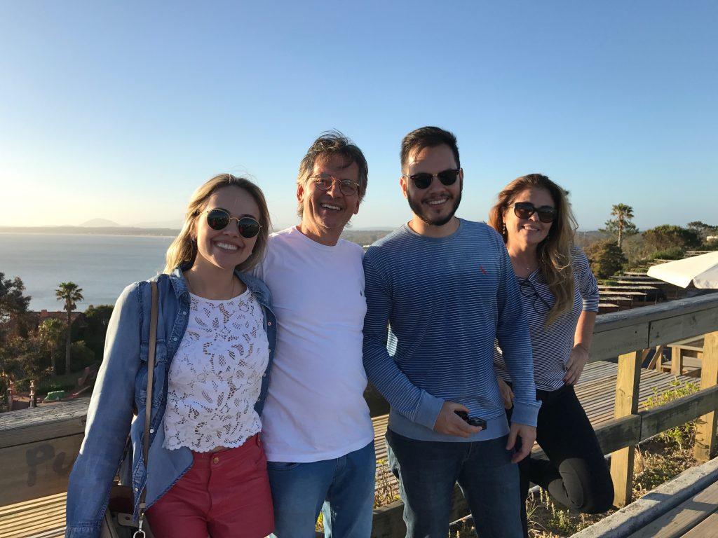 Família amada no Mirador Punta Ballena
