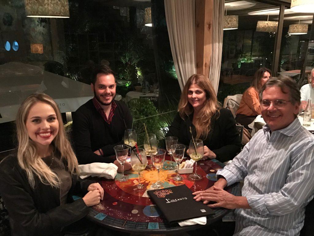 Jantar no restaurante L'incanto
